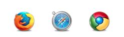 Firefox, Safari, Google Chrome
