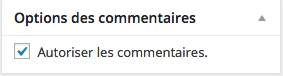 Commentaires Box
