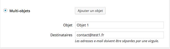 Créer une page Contact avec objet