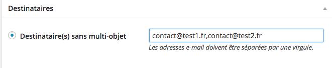 Créer une page Contact sans objet