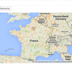 Géo-localiser un lieu sur une carte Google Maps.
