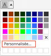 Choix de couleurs dans l'éditeur de texte
