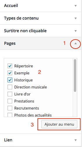Créer le menu de navigation du site Internet