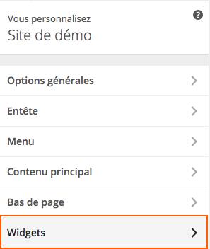 Insérer un widget sur son site Internet