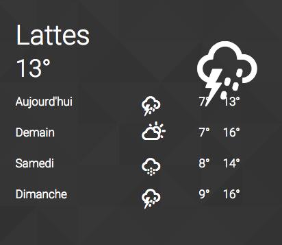 Afficher la météo sur son site