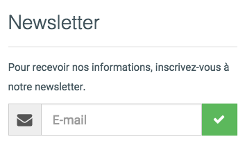 Insérer un widget d'inscription à la newsletter