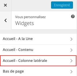 Comment insérer un widget dans la colonne latérale sur un site 6temFlex