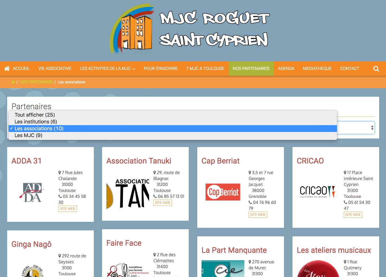 Organiser les catégories d'articles en mode liste de votre site internet
