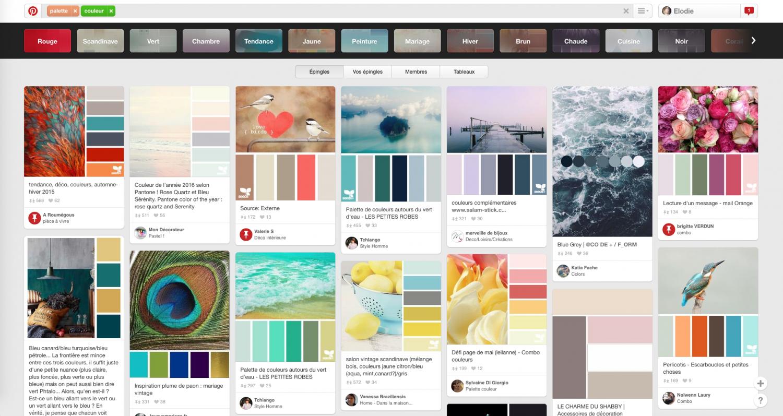 Pinterest inspiration palette graphique