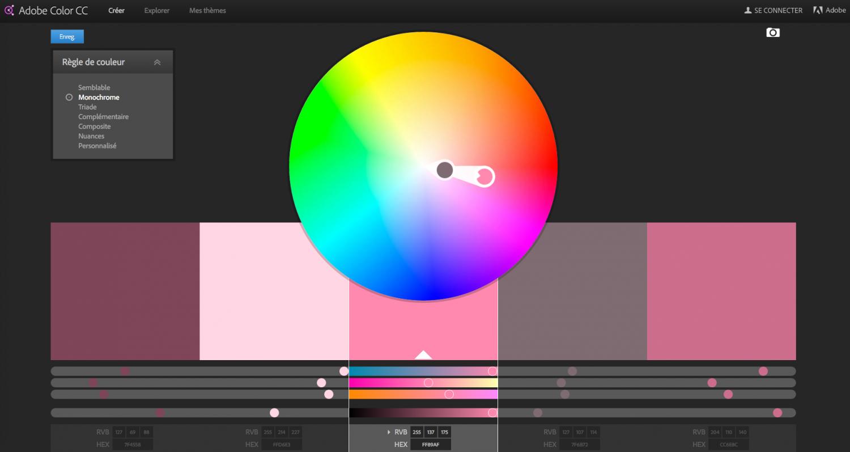 roue chromatique kuler adobe inspiration couleur site internet