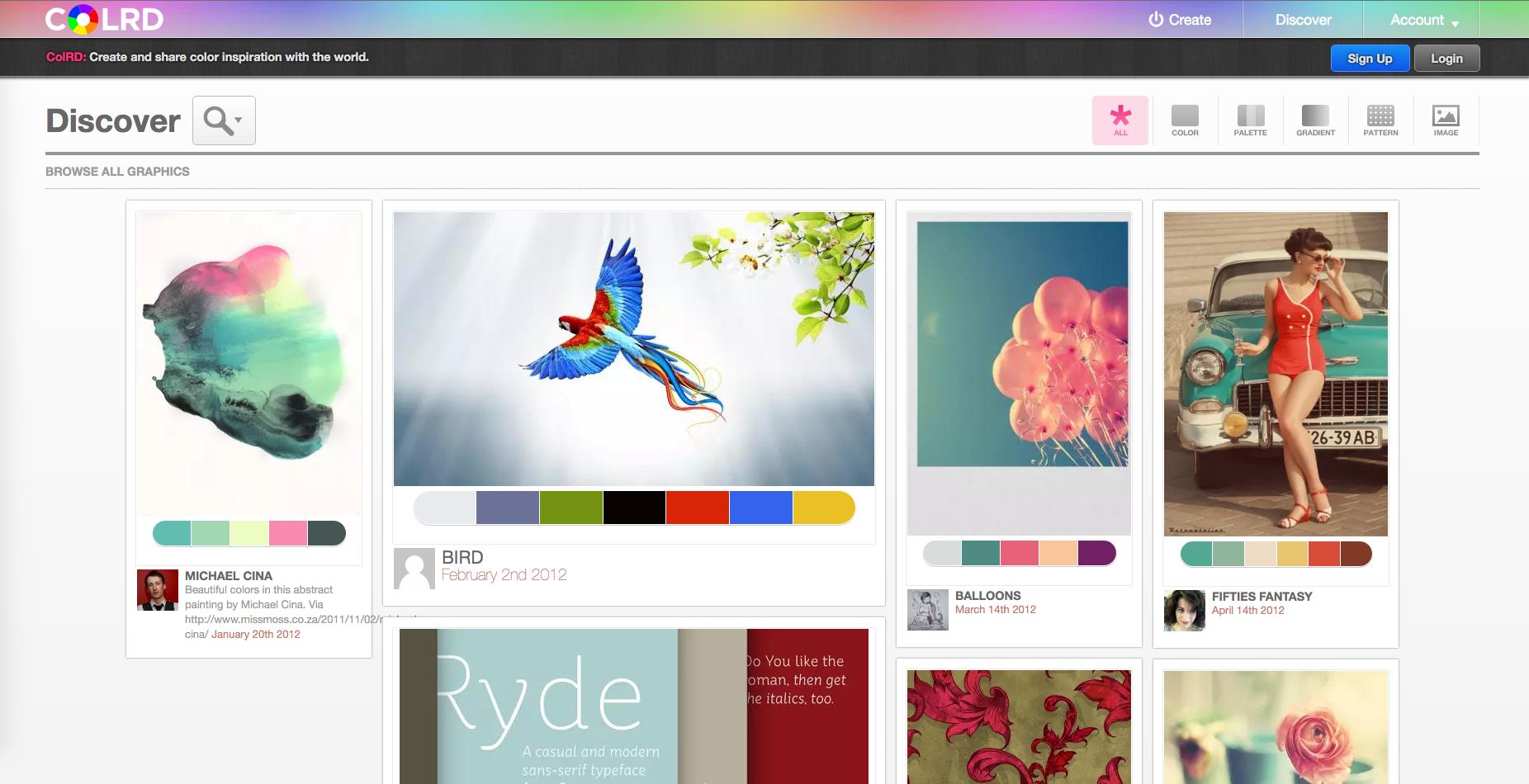 site inspiration couleur site internet - colrd