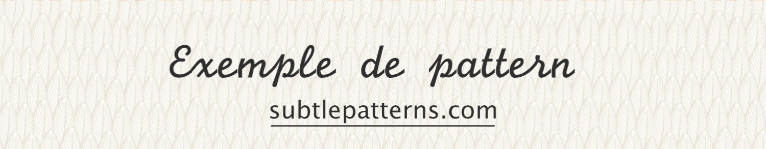exemple de pattern site subble patterns