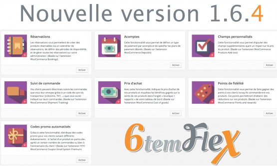 Nouvelle version 1.6.4 de 6temFlex