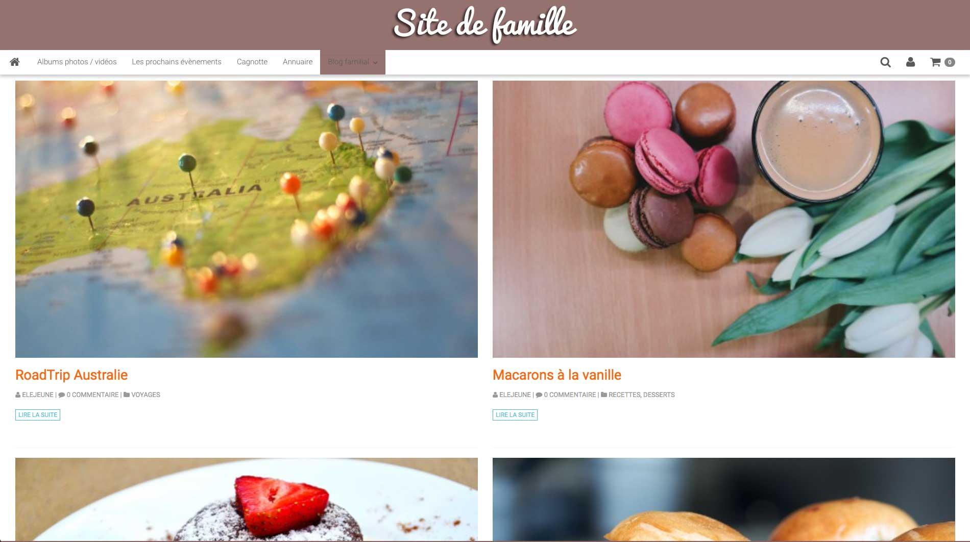 Créer un blog d'un site de famille