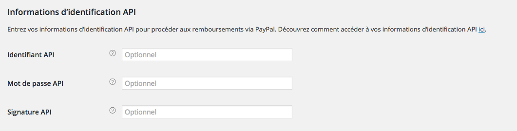 Informatios Paypal à renseigner dans l'administration du site 6temFlex