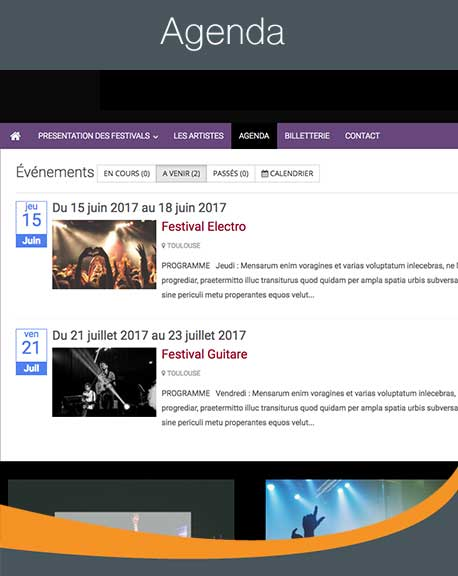 agenda site evenement