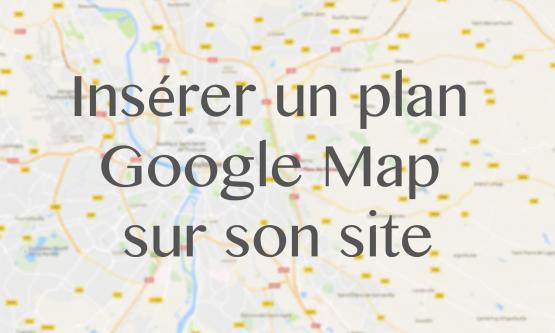 Insérer un plan Google Map dans un widget