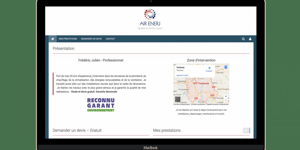 Exemple site web Air Enerj
