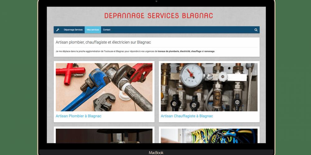 Page dépannage service
