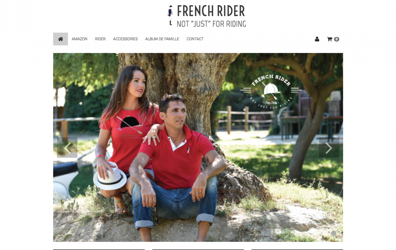 Site internet French rider