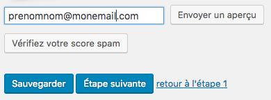 Aperçu newsletters avant envoi