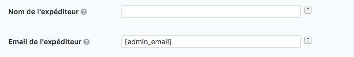 Configurer un formulaire