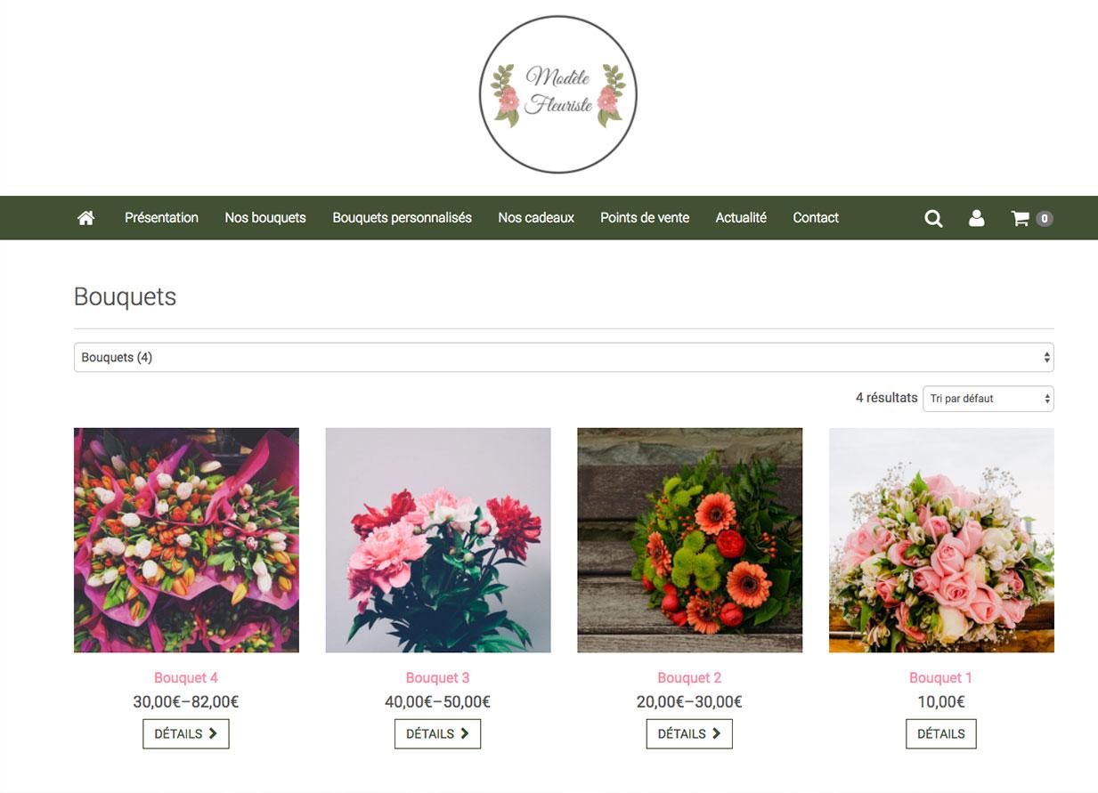 cr er un site de fleuriste 6temflex cr er un site. Black Bedroom Furniture Sets. Home Design Ideas