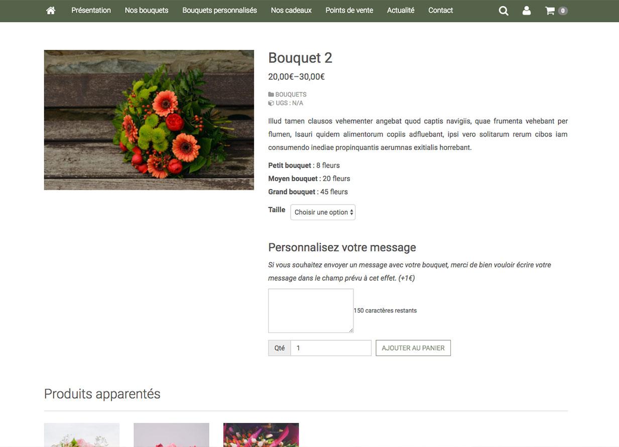 Cr er un site de fleuriste 6temflex cr er un site for Site fleuriste
