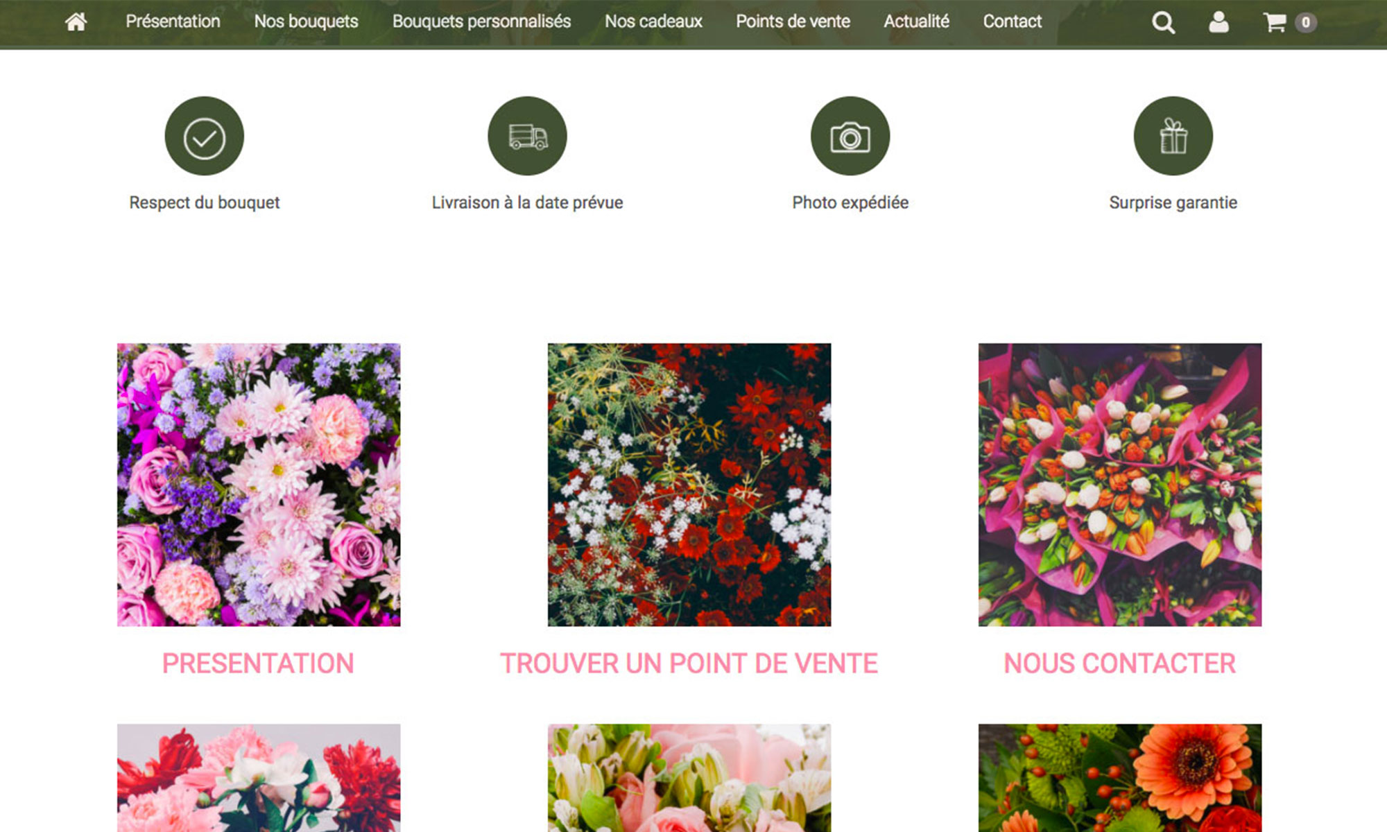 cr er un site de fleuriste 6temflex cr er un site internet professionnel bas sur wordpress. Black Bedroom Furniture Sets. Home Design Ideas