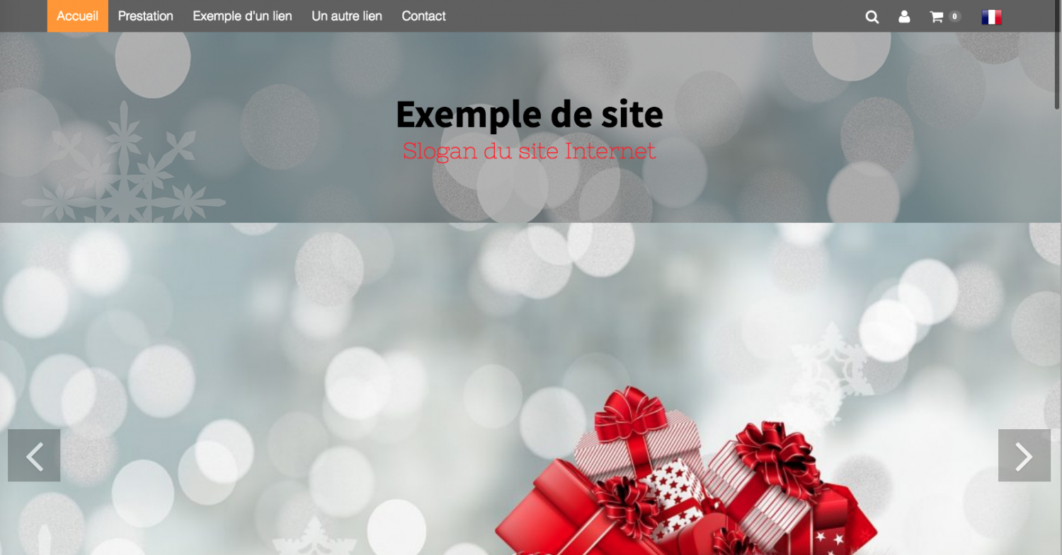 Placer le menu de navigation en haut du site Internet