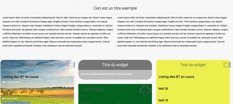 Nouveautés pour les widgets ! Arrondi, Image et Centrage