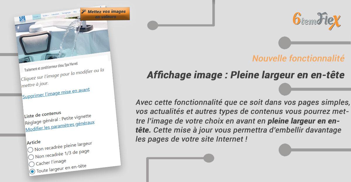 Afficher une image en pleine largeur dans l'en-tête des pages