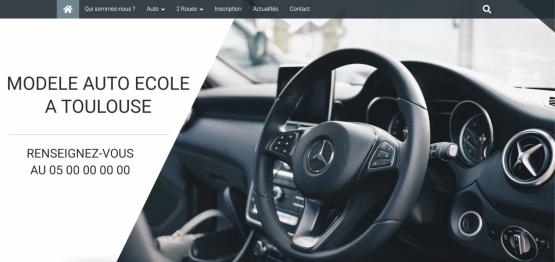 Créer un site internet auto-école